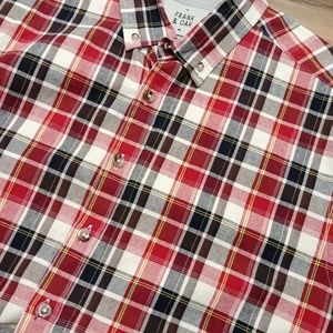 Frank and Oak button down LS thick cotton shirt